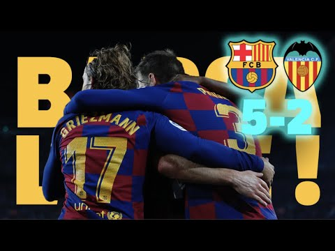 ⚽ Barça 5-2 Valencia | BARÇA LIVE | Warm up & Match Center