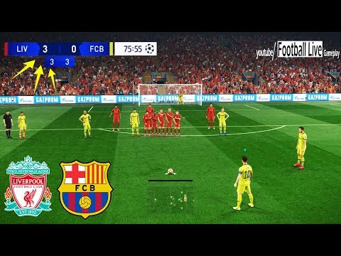 PES 2019 | Liverpool vs Barcelona | Messi Free Kick Goal | UEFA Champions League – UCL