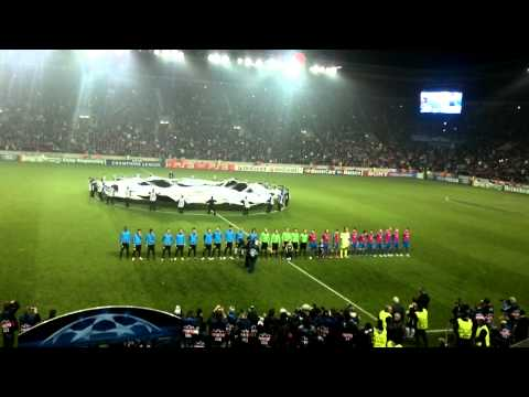 FC Viktoria Plzeň – FC Barcelona Champions league anthem and kickoff 1.11.2011