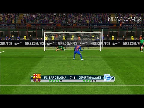 FC Barcelona vs Alaves | Final CUP | Penalty Shootout | PES 2017 Gameplay