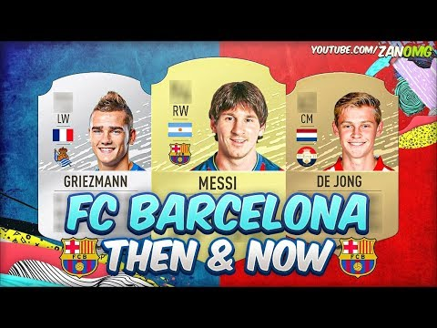 FIFA 20 | FC BARCELONA FIRST & PRESENT FIFA CARDS!! | FT. MESSI, GRIEZMANN, DE JONG…