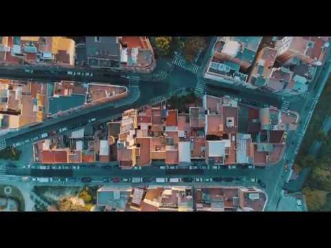 Barcelona from the sky  (4K)
