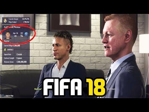 SIGNING NEYMAR IN FIFA 18 CAREER MODE!!! – FIFA 18 Experiment