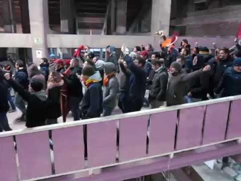 Fc Barcellona vc As Roma 6-1 Tifosi Roma (24/11/2015)