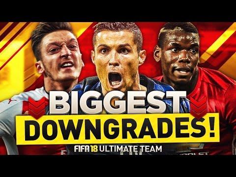 FIFA 18 | BIGGEST DOWNGRADES | PLAYERS RATINGS PREDICTIONS | w/ POGBA, ÖZIL & RONALDO | FUT 18