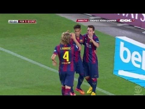 FC Barcelona vs Club Leon 5:0 Neymar Amazing Lob Goal 2014