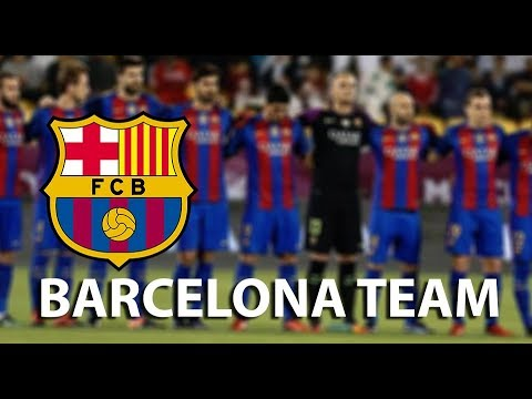 BARCELONA TEAM PLAYERS AND POSITIONS / BARCELONA 2018