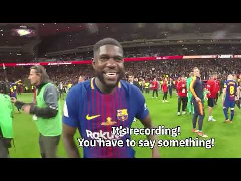 Funniest moments of FC Barcelona 2017\2018 | Messi dance Baila with Mina !!