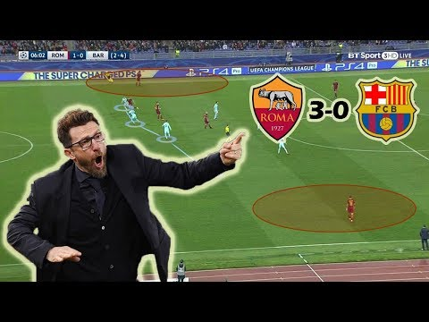 How Roma Destroyed Barcelona | AS Roma vs Barcelona 3-0 | Tactical Analysis