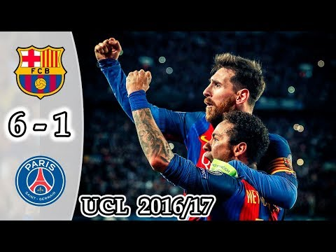 Barcelona vs PSG 6-1 | All Goals & Highlights | UCL 2017 English Commentary
