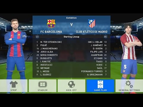 PES 2017 GAMEPLAY – BARCELONA vs ATLÉTICO DE MADRID no CAMP NOU (Messi, Neymar, Suárez e Griezmann)