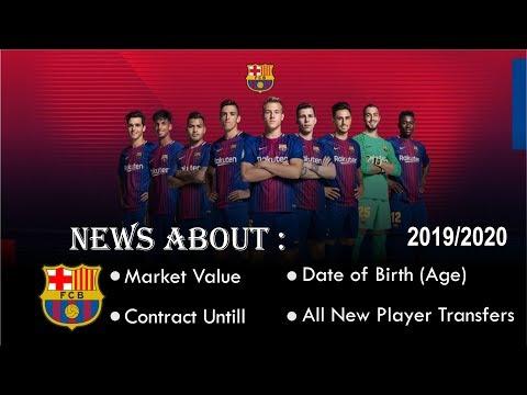 FC Barcelona » Squad 2019/2020 (Age●Contract until●Market value) #FOOTBALL SQUAD