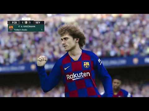 PES 2020 | Barcelona vs Sevilla – La Liga 6 October 2019