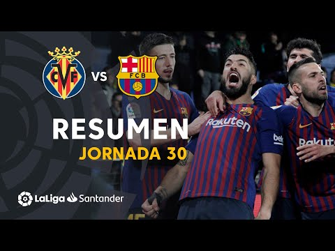 Resumen de Villarreal CF vs FC Barcelona (4-4)