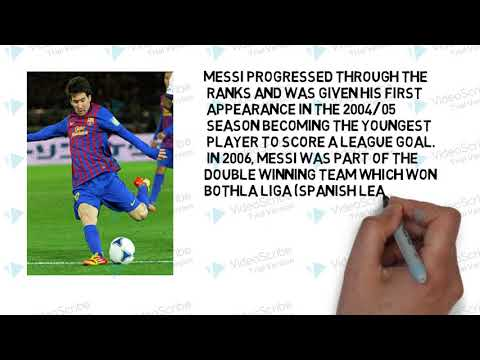 LIONEL MESSI BIOGRAPHY IN ENGLISH '' FC BARCELONA SPAIN