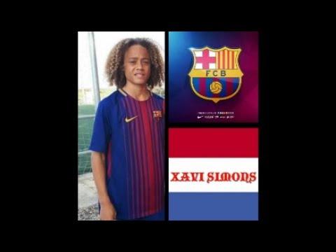 PES2018 XAVI SIMONS BARCELONA FC CREE CARA JUGADOR , CREATE FACE PLAYER