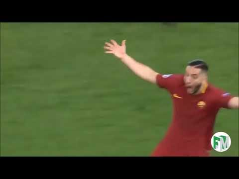 Kostas Manolas Celebration – Roma vs Barcelona 10 April 2018