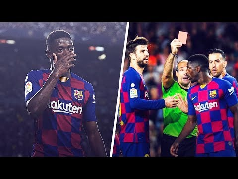 What did Ousmane Dembélé say to the referee to get sent off?! | Oh My Goal