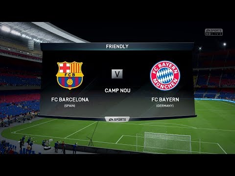 FIFA 18 Official Gameplay Barcelona vs Bayern Munich Xbox 360/PS3