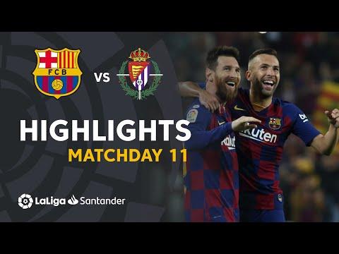 Highlights FC Barcelona vs Real Valladolid (5-1)