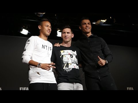 #BallondOr2015 – Messi and Neymar's press conference before the gala
