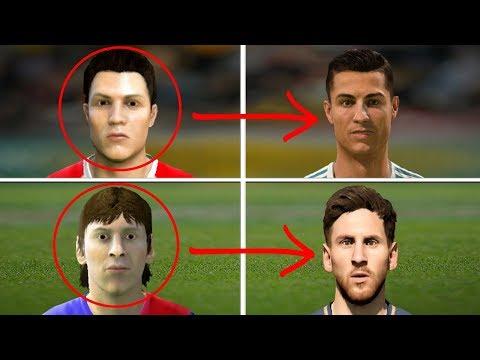 Messi vs Ronaldo Ratings and Face Comparison (Fifa 06 – Fifa 18)