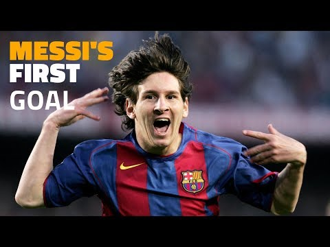 Messi's first official goal for FC Barcelona
