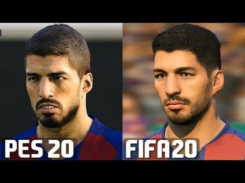 FIFA 20 vs PES 2020 – FC Barcelona Player Faces Comparison