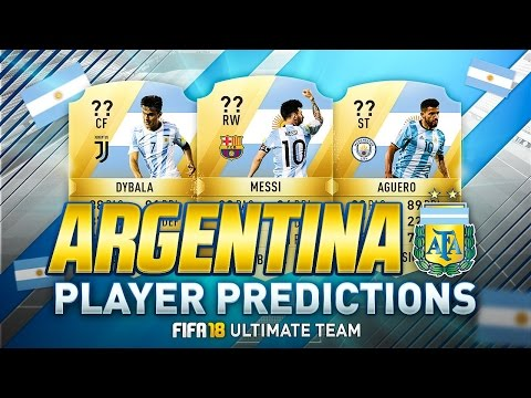 FIFA 18 | TOP 10 BEST ARGENTINA PLAYERS RATINGS PREDICTION | w/ DYBALA, HIGUAÍN & MESSI | FUT 18