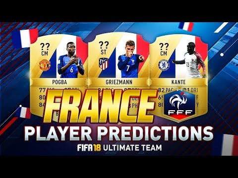 FIFA 18 | TOP 10 BEST FRENCH/FRANCE PLAYERS RATINGS PREDICTION | w/ GRIEZMANN & POGBA | FUT 18