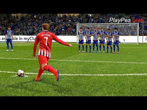 PES 2019 – DEPORTIVO ALAVES vs ATLETICO MADRID – Full Match & GRIEZMANN Free Kick Goal – Gameplay PC