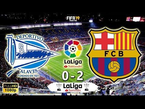 Alaves vs Barcelona 0-2   La Liga 2018/19   Matchday 34   23/04/2019   FIFA 19
