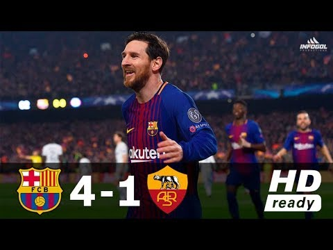 Barcelona vs AS Roma 4-1 – UCL 2017/2018 – Full Highlights ᴴᴰ