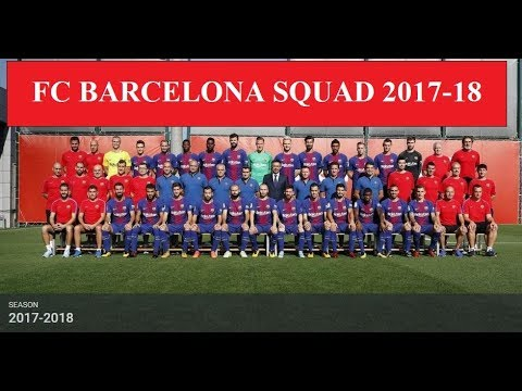 FC Barcelona Squad First Team 2017-18 ||HD|| (Official) (Kit Numbers)