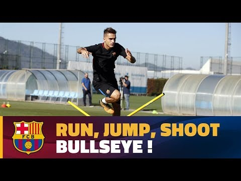 Enjoy Barça's multi-skill training drill