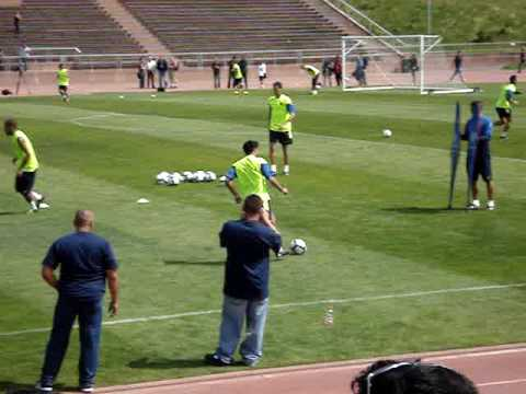 FC Barcelona Training in SF– Xavi