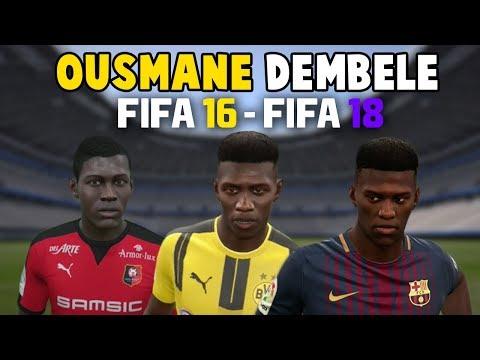 Ousmane Dembele | FIFA 16 – FIFA 18 (Ingame Face, Skills, Stats, Shots, Passes, Goals, etc)