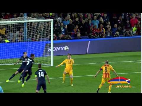 Barcelona vs Atletico Madrid Lionel Messi Fantastic  Bicycle kick UCL 05/04/2016