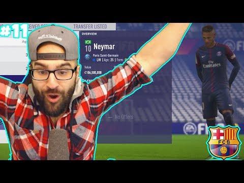 HOLY SH*T NEYMAR SIGNS FOR BARCELONA!!  – FIFA 18 CAREER MODE #11