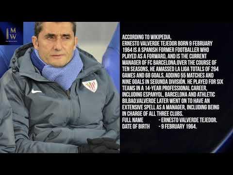 Ernesto Valverde Tejedor 1 minute wiki