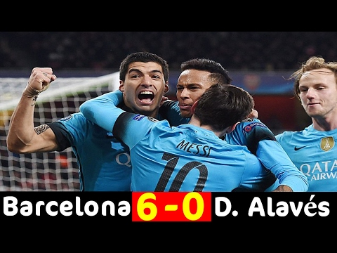 Barcelona Vs Deportivo Alaves 6-0 All Goals and Highlights (La Liga) 11.02.2017 HD