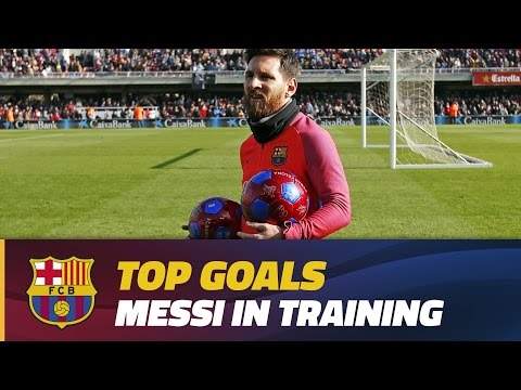 Training session goals: Leo Messi