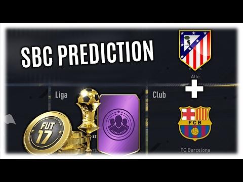 FIFA 17 ULTIMATE TEAM | SBC PREDICTION ATLETICO MADRID vs BARCELONA