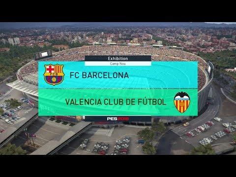 Barcelona vs Valencia – La Liga 14th April 2018 – PES 2018 Gameplay