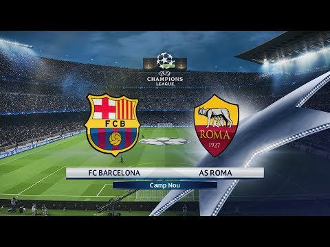 FC Barcelona vs Roma | Cuartos de Final Champions League (04/04/2018) | PES 2018