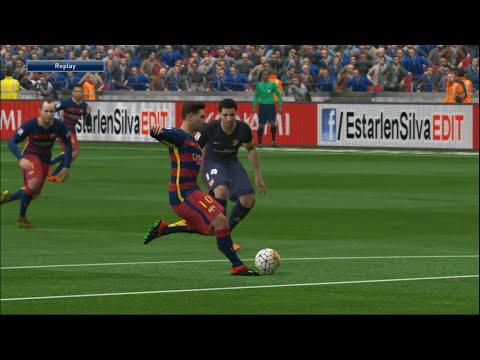 Barcelona VS Atletico Madrid-Pes 2016 Game play/ Liga BBVA Prediction/ PC Games