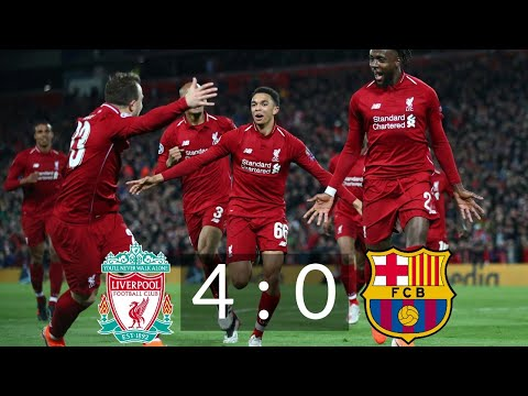 Liverpool vs Barcelona 4 : 0 UCL, Player Ratings, Match Stats   UEFA Champions League Highlights