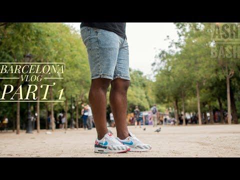 Barcelona Vlog PT 1 | La Rambla | 24 Kilates Sneaker Store Visit | Ash Bash