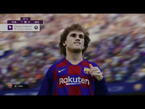 eFootball PES 2020 Barcelona vs Arsenal Full Match PS4 Pro Gameplay [ 4K ]