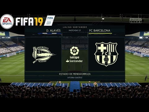 Deportivo Alavés vs. FC Barcelona! FIFA 19 ! 24/04/2019 ! La Liga 2018/19 ! Prediction & Gameplay